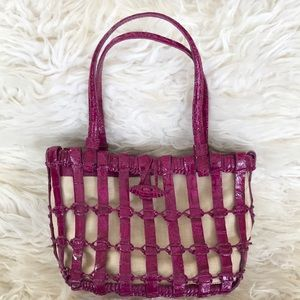 Nancy Gonzalez Woven Crocodile Mini Tote